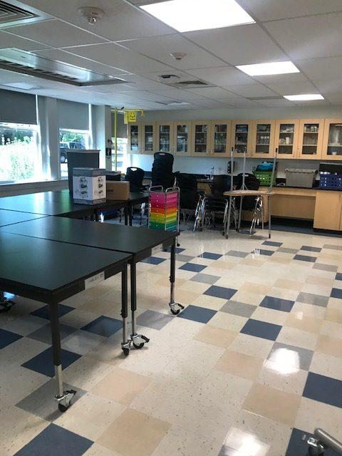 Empty Science Clasroom