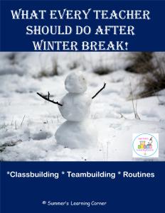 What Every Teacher Should Do After Winter Break
