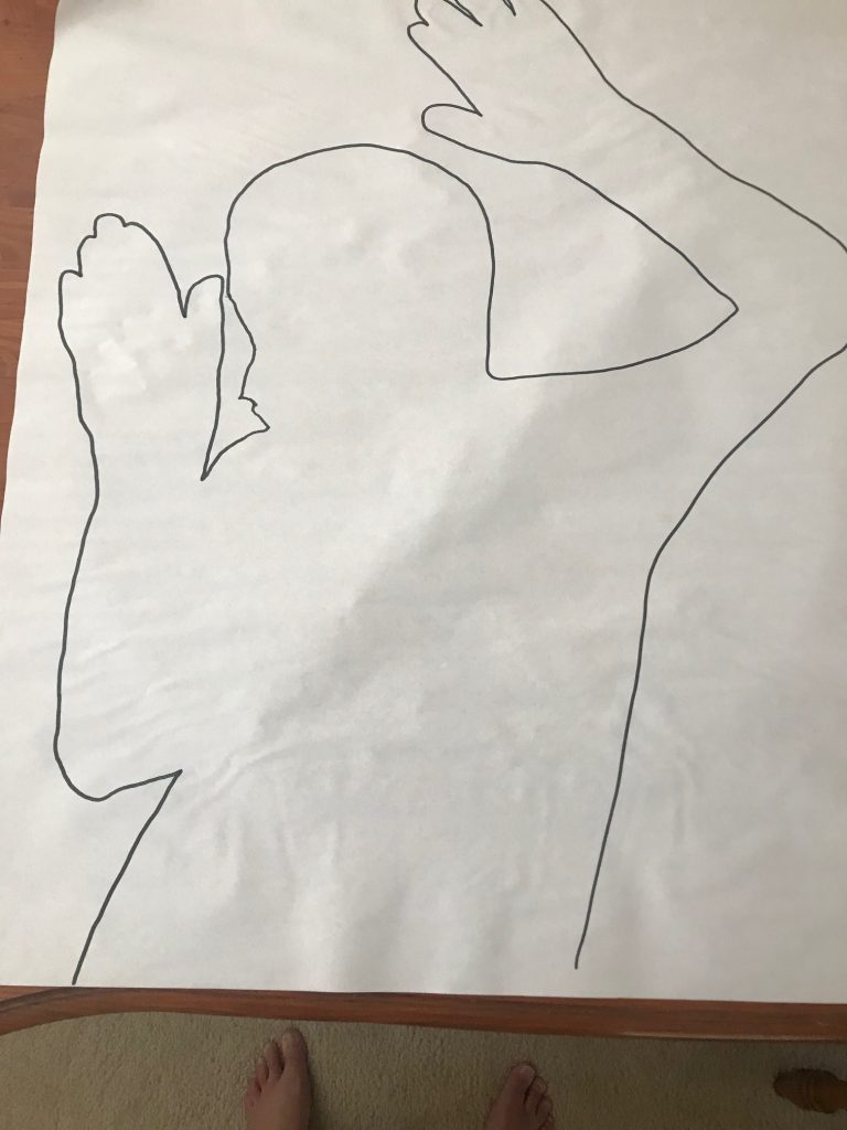 Body Outline on Paper