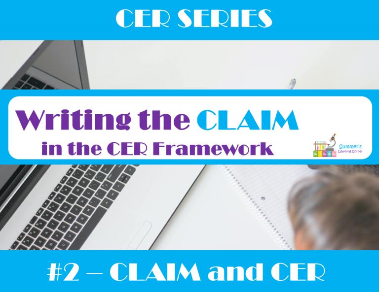 Writing the CLAIM for the CER Framework